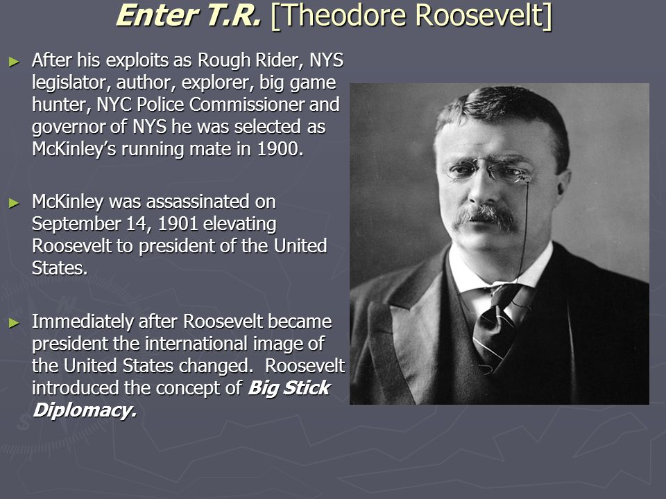 Enter T.R. [Theodore Roosevelt]